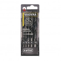 BROCAS P/MADERA JGO.5 RATIO