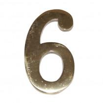NUMERO LATON 10 CM Nº 6. EHL