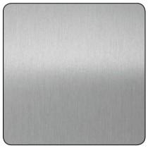 Chapa aluminio plata lijado...