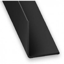 Angulo PVC negro 20x20 1m.