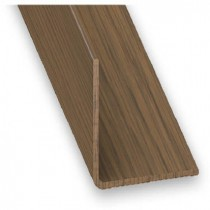 Angulo PVC nogal 20x20 1m.