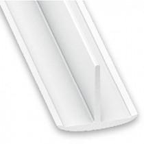 Perfil en T PVC blanco...