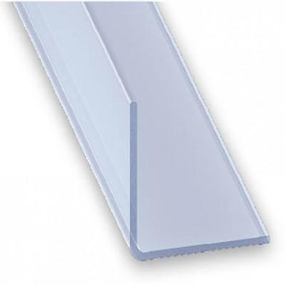 Angulo PVC transparente 20x20 2m.