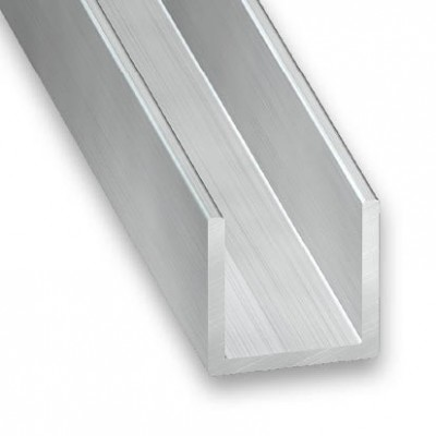 U aluminio bruto 10x13x10x1,5 interior 10mm 2m.